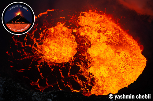 Lava lake in Marum crater in the evening (Photo: Yashmin Chebli)