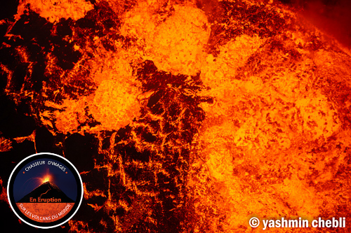 Surface of violently boiling lava lake in Marum crater (Photo: Yashmin Chebli)