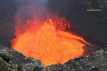 Benbow lava lake / Yashmin CHEBLI 2014 BENBOW092014_0683r.jpg (Photo: Yashmin Chebli)