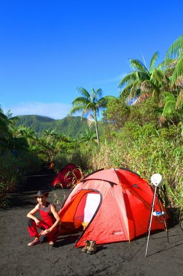 Our campground in Ambrym (Photo: Yashmin Chebli)