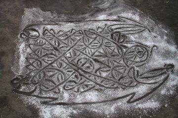 Sand drawing (Photo: Yashmin Chebli)