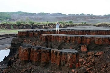 The eroded plateaus of the ash plane (Photo: Yashmin Chebli)