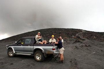 On the parking area below Yasur volcano (Photo: Yashmin Chebli)