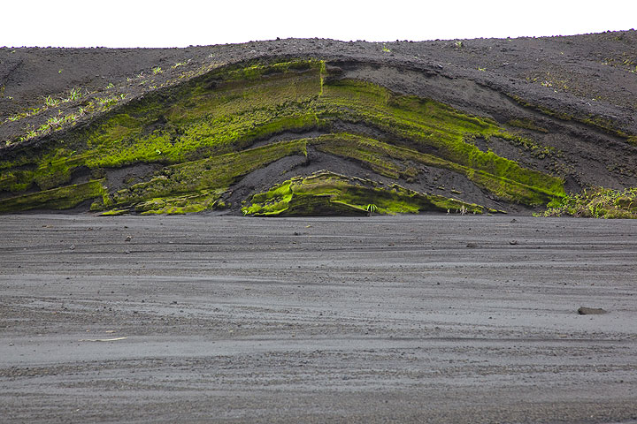 On the way to Marum, we follow a large valley cutting through undulated older ash deposits.  (Photo: Tom Pfeiffer)