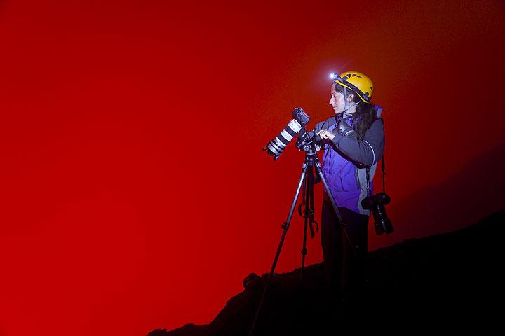 Ulla tested die neue Kamera. (Photo: Tom Pfeiffer)