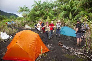 Camp in the Ambrym caldera (Photo: Tom Pfeiffer)