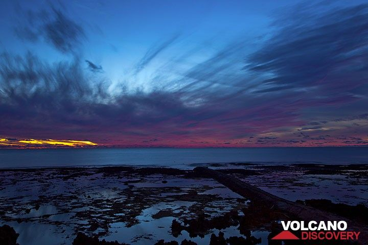 Sonnenuntergang über dem Pazifik (Photo: Tom Pfeiffer)