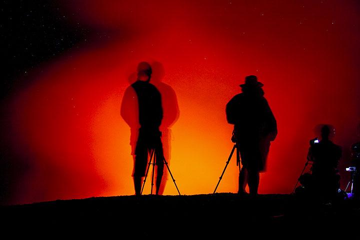 Lava hunters at Yasur (Photo: Tom Pfeiffer)