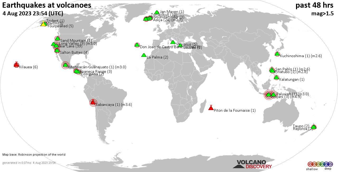 Земетресения при вулкани