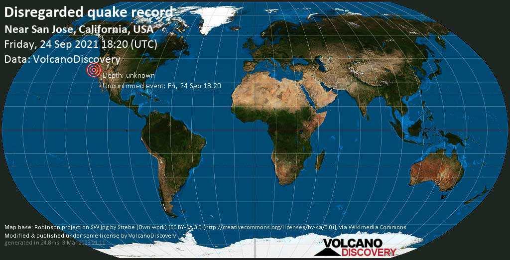 Rivisto come sismo che non ha avuto luogo: magnitudo 3.0, 5.5 km a nord da Santa Clara, Contea di Kern, Stati Uniti, venerdì, 24 set 2021 11:20 (GMT -7)