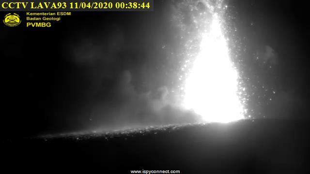 Lava fountain at Anak Krakatau last night