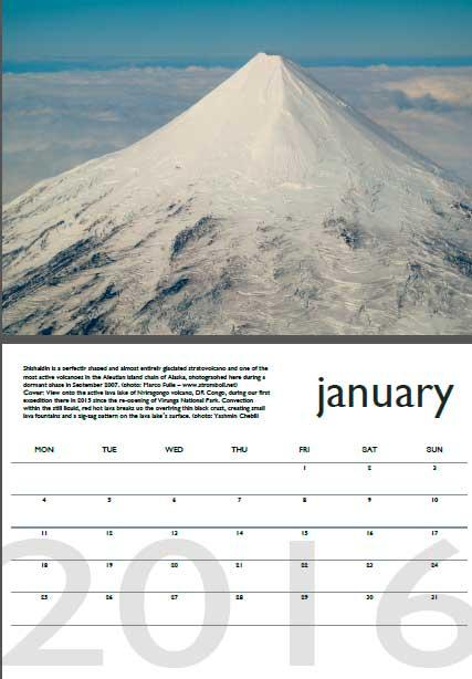 Volcano calendar 2016 - January preview