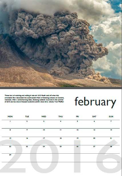 Volcano calendar 2016 - February preview