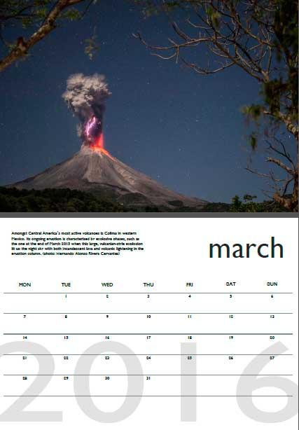 Volcano calendar 2016 - March preview