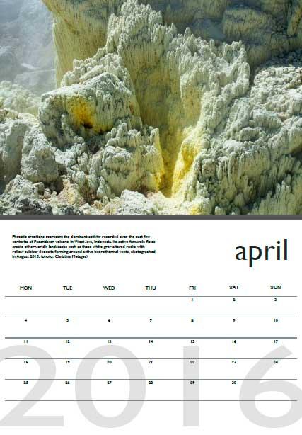 Volcano calendar 2016 - April preview