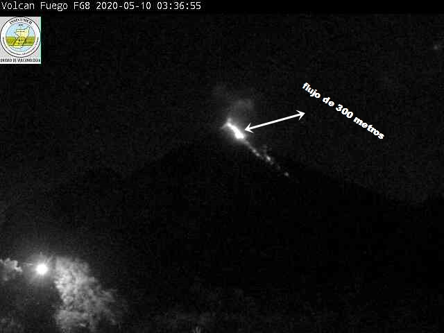 Thermal image of lava flow from Fuego volcano (image: INSIVUMEH)