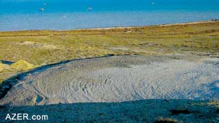 Example of mud volcanic activity - pools and mudflows. (Photo: Ronnie Gallagher)