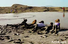 At a mud volcano. Photo by Ronnie Gallagher.