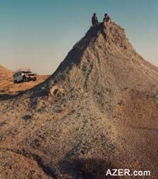 Scientists study mud volcanoes to understand the nature of hydrocarbon activity beneath the earth's surface. There are more mud volcanoes in Azerbaijan than any other country. (Photo: Litvin)