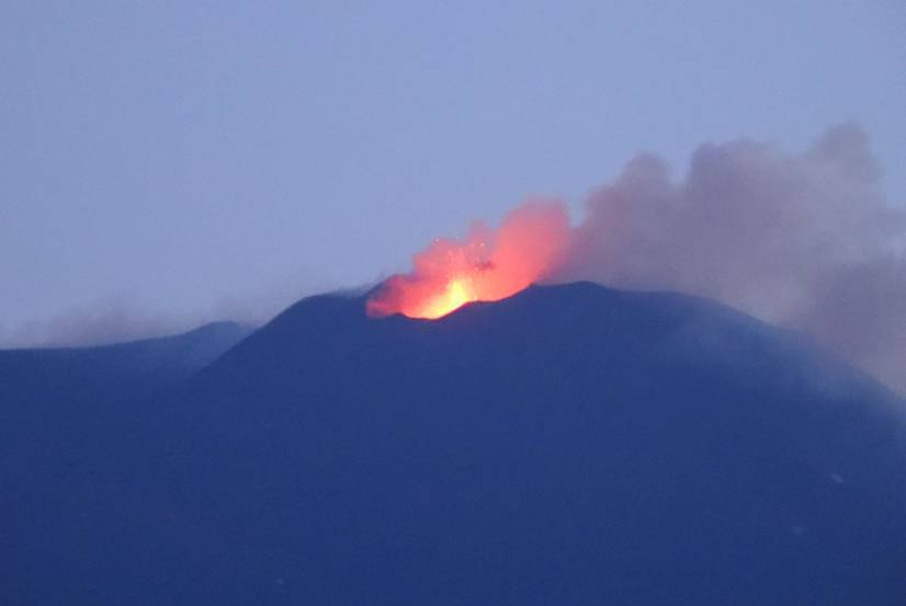Strombolian activity from Etna volcano on 25 July (image: INGV)