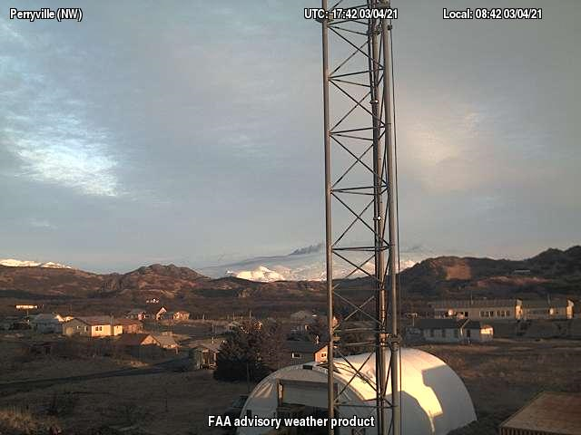 Webcam image of Veniaminof volcano yesterday (image: AVO)