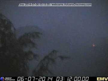 The effusive vent this morning (Milo webcam, INGV Catania)