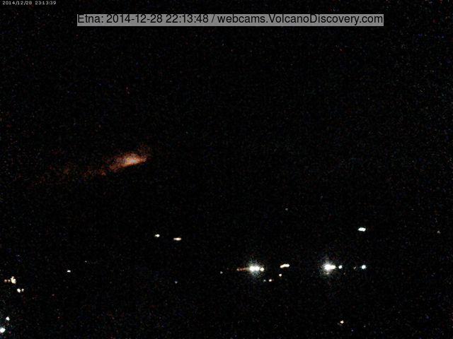 The activity seen from Linguaglossa (EtnaTrekking webcam)