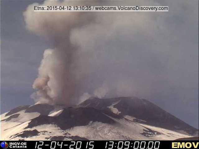 Ash emission from Bocca Nuova (INGV webcam)