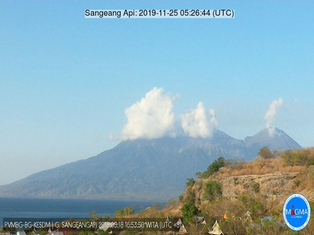 Ash plume from Sangeang Api volcano (image: VSI)