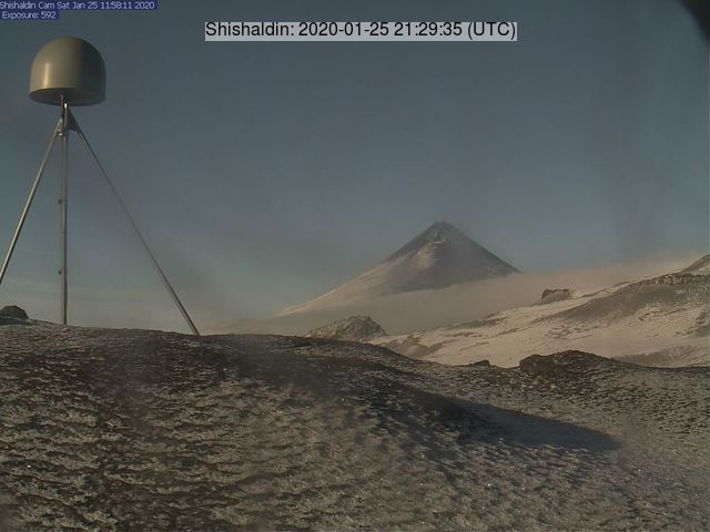 Shishaldin volcano on 25 January (image: AVO)