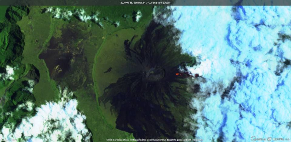 Thermal anomaly detected by satellite (image: Sentinel 2)