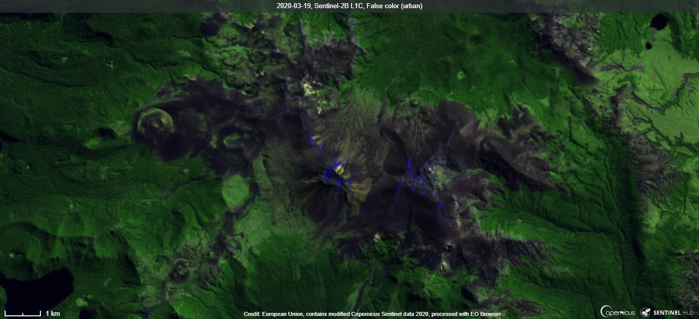 Antillanca volcano from satellite (image: Sentinel 2)