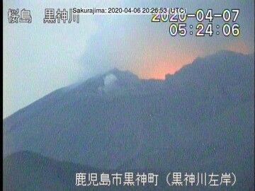 Glow from Sakurajima volcano (image: JMA)