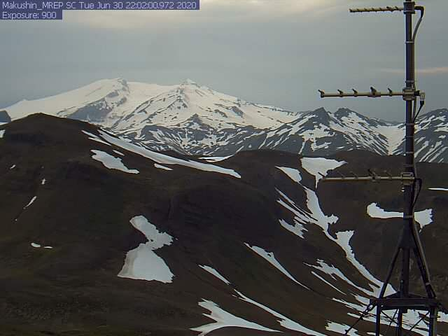 Makushin volcano today (image: AVO)