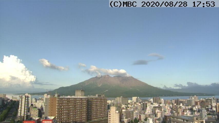Steam emissions from Sakurajima volcano today (image: JMA)