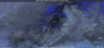 Katmai volcano visible from satellite (image: Sentinel 2)