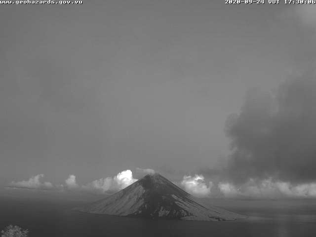 Lopevi volcano today (image: Saratamata Tower webcam)