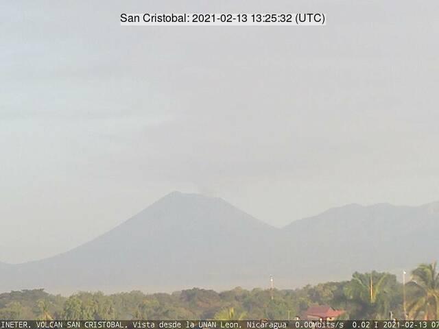 San Cristobal volcano on 13 February (image: INETER)