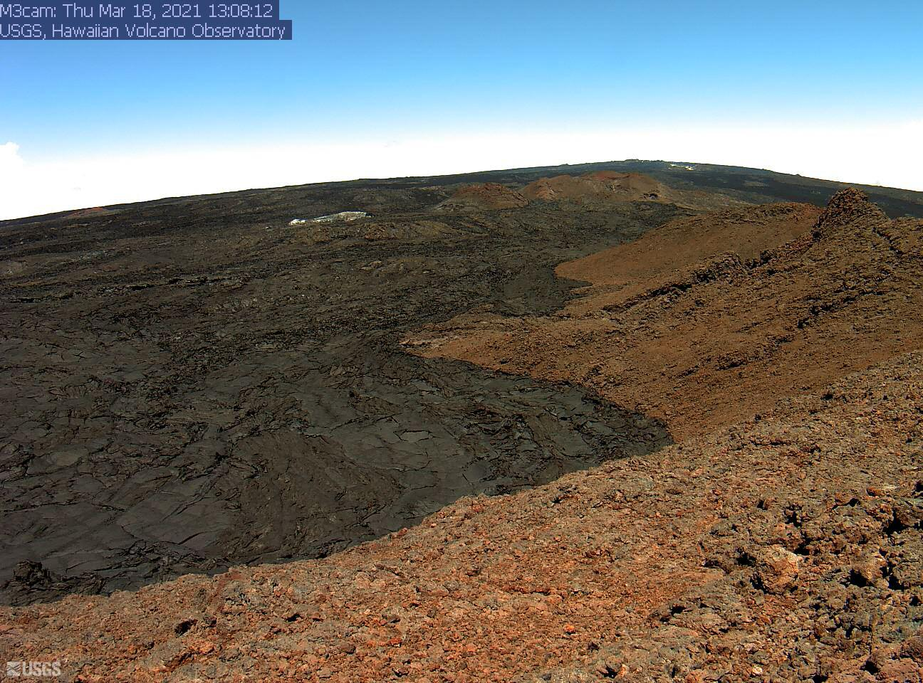 Upper part of Mauna Loa SW rift zone (image: HVO)