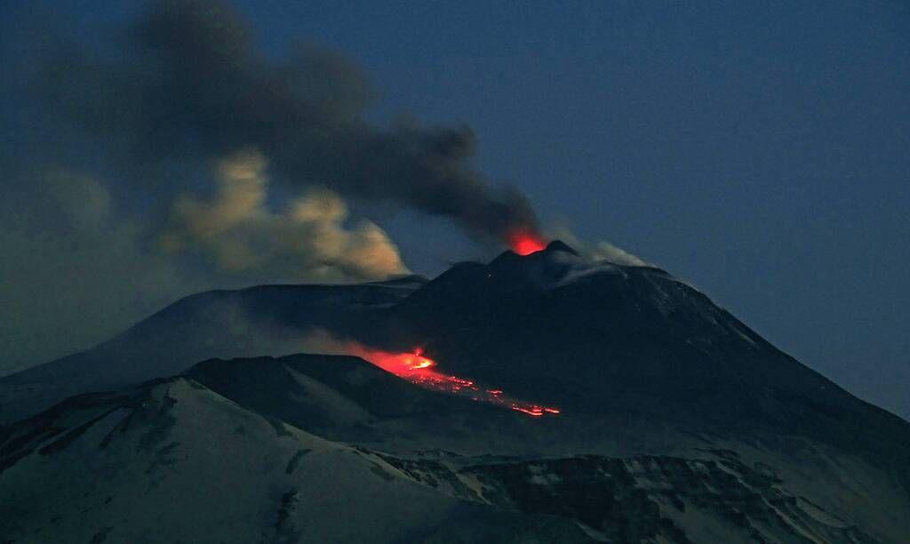 Strombolian activity and lava flow at dawn (image: Boris Behncke / Flickr)
