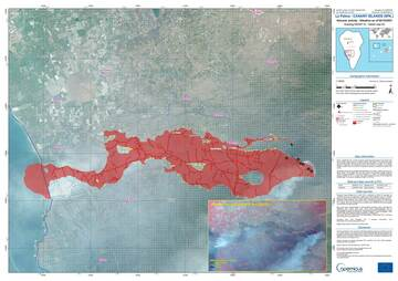 Latest lava flow map (image: Copernicus)