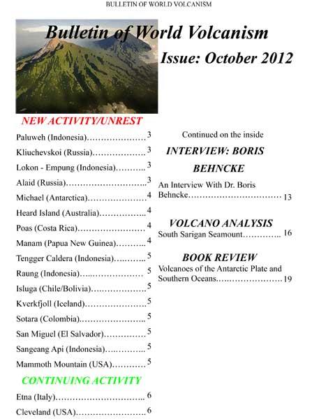 Bulletin of World Volcanism Oct 2012