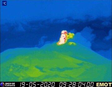 Thermal image of Etna volcano (image: INGV)