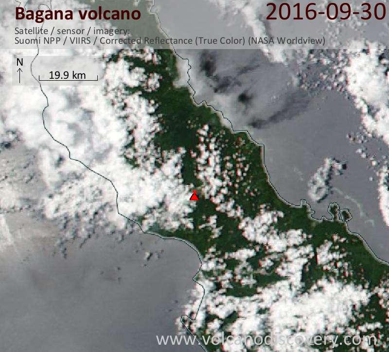 Satellite image of Bagana volcano on 30 Sep 2016