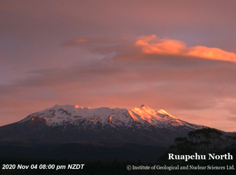 Ruapehu volcano today (image: GeoNet webcam)