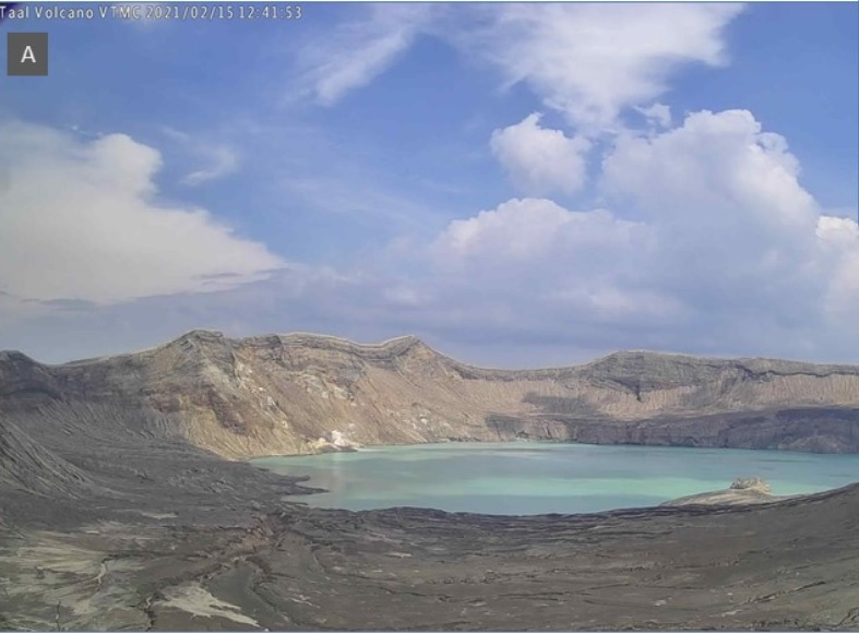 Crater Lake at Taal volcano yesterday (image: PHIVOLCS)