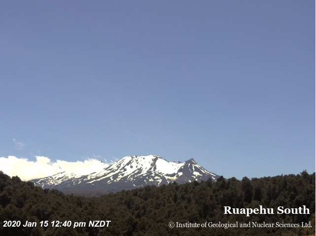 Ruapehu volcano today (image: Geonet)