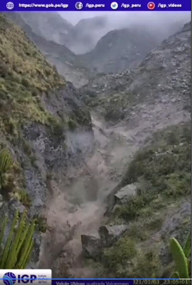 Lahars from Ubinas volcano (image: IGP)