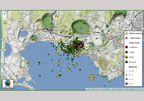 Location of earthquakes (C) INGV