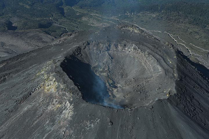 Summit crater of Colima volcano seen from the east on 9 Nov 2017